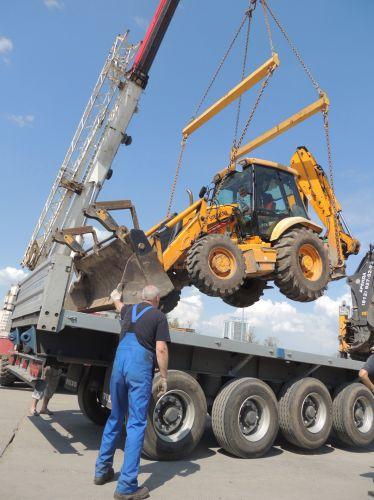 Loading machinery crane