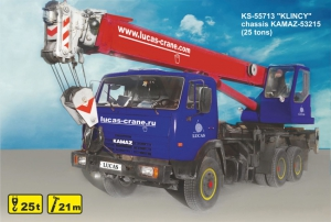 "(25 tons) KS-55713 ""KLINCY"", chassis KAMAZ-53215 for rent"