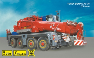 (70 tons) TEREX-DEMAG  AC-70 City for rent