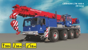 (50 tons) LIEBHERR LTM 1050-4 for rent