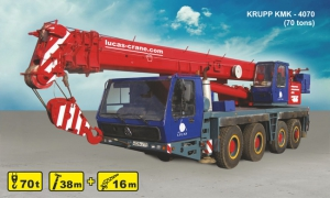 (70 tons) KRUPP KMK- 4070 for rent
