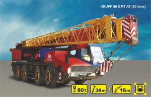 (80 tons) KRUPP 80 GMT AT for rent