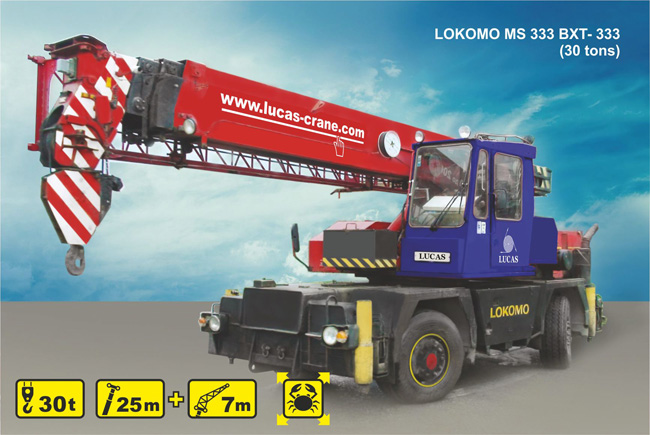 Mobile crane rental LOKOMO MS 333 BXT